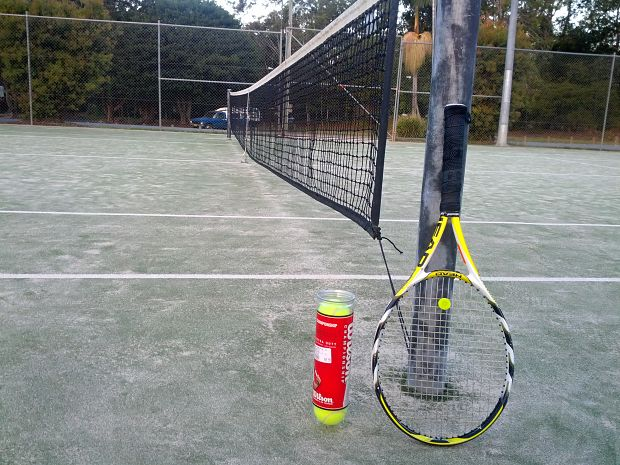 tennis court raquet at Caboolture Tennis Association